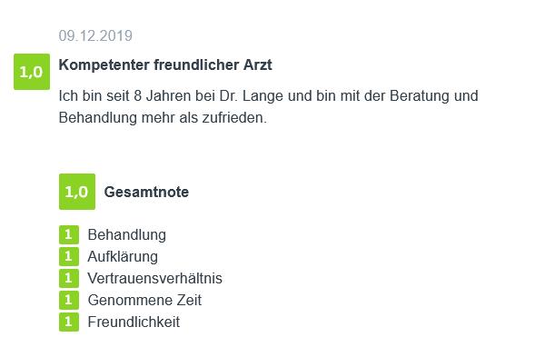 Bewertung - Hyperhidrose Behandlung in Berlin