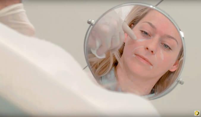Faltenbehandlung mit Hyaluron im Gesicht